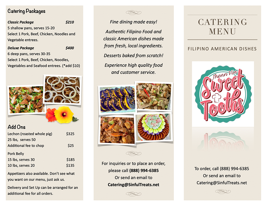 Catering Menu (Front)